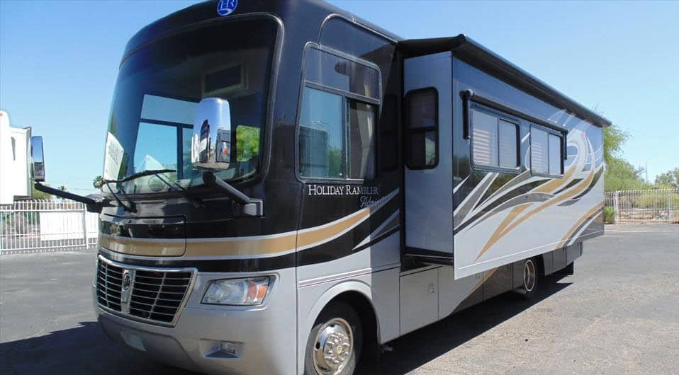 How Wide is a 'Class A Motorhome' With Slide Outs?