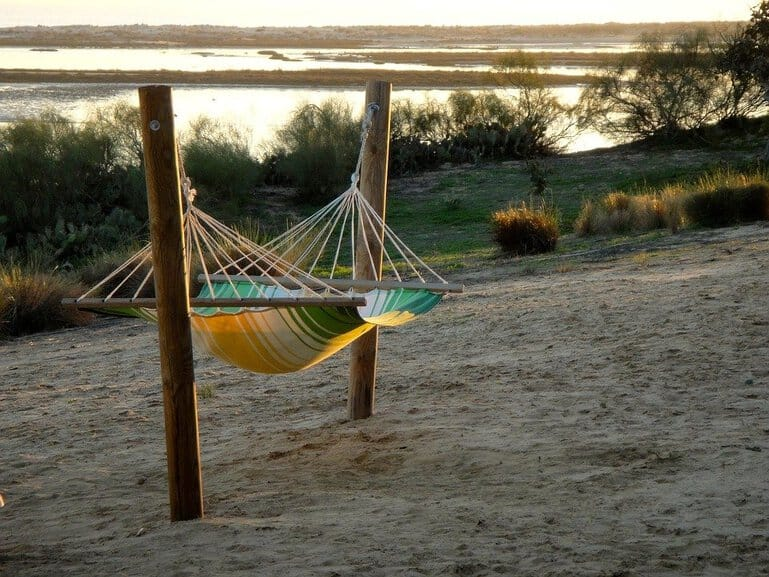 How to Hang a Hammock with Poles