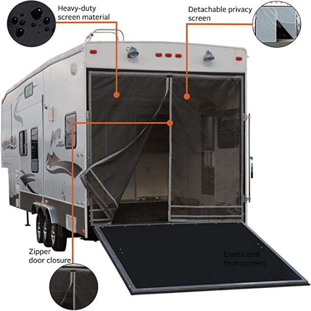 Classic Accessories Over Drive Toy Hauler Screen With Rear Opening